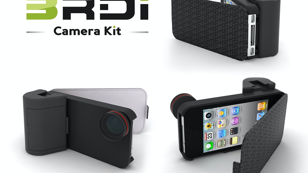 Project image for THE 3RDi KIT - high-end camera kit for an iPhone 4/4S