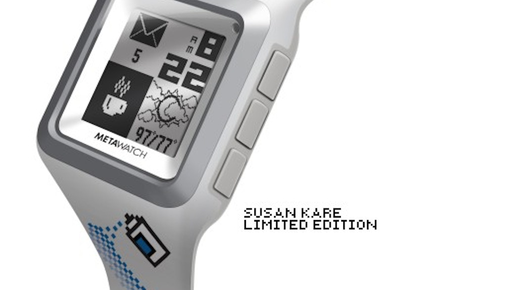 MetaWatch STRATA: the Smartwatch for the iPhone 4S & Android project video thumbnail