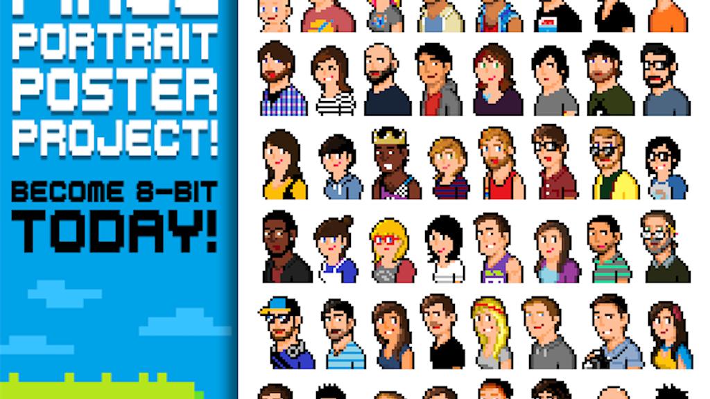 Pixel Portrait Poster Project! project video thumbnail