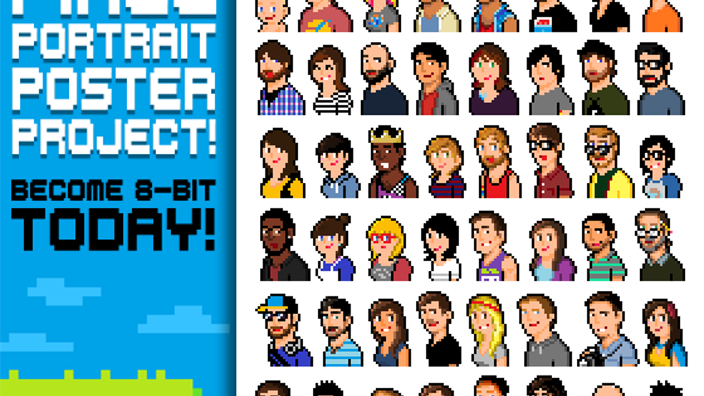 Pixel Portrait Poster Project! project video thumbnail