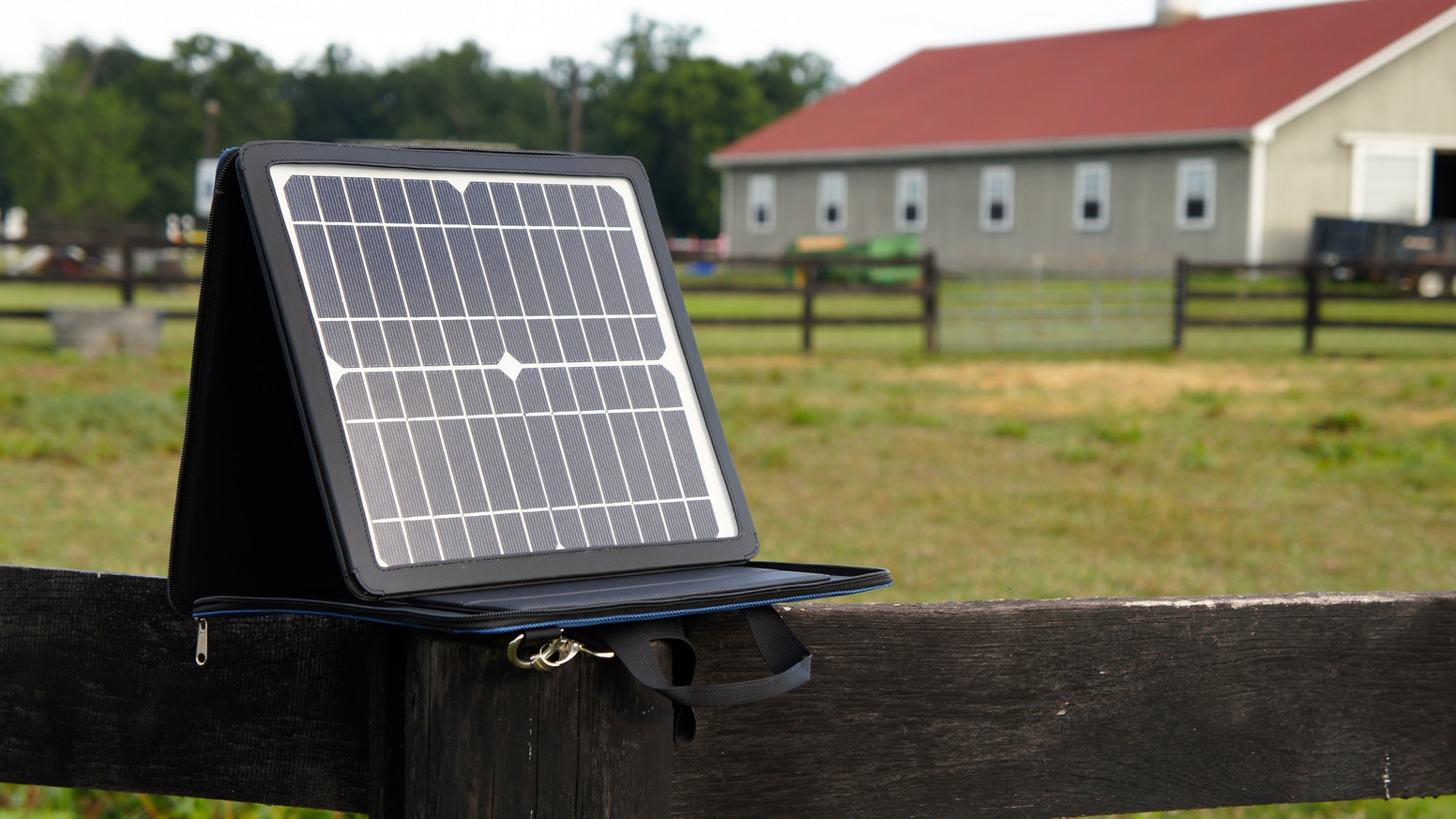 A high powered, portable solar power station that charges all your gadgets directly from the sun with outlet speeds.