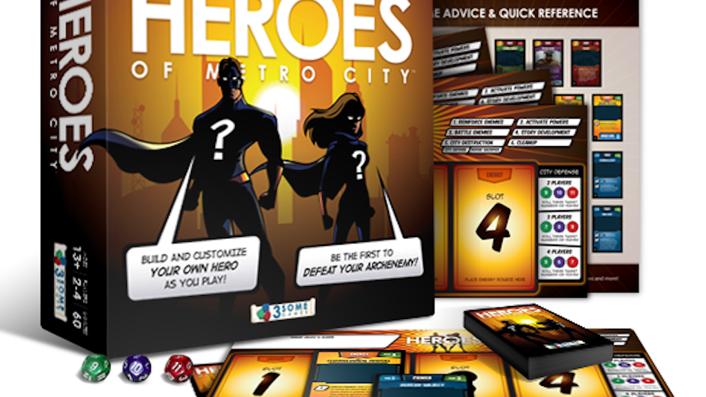 Heroes of Metro City - A Super-Powered Deck Building Game! project video thumbnail