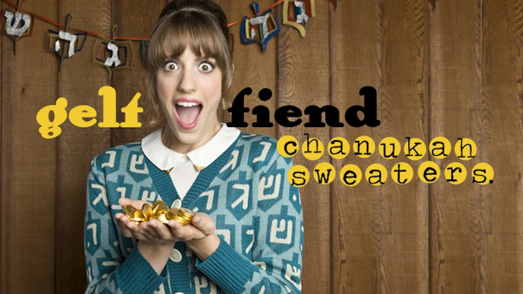 Geltfiend Chanukah Sweaters! project video thumbnail
