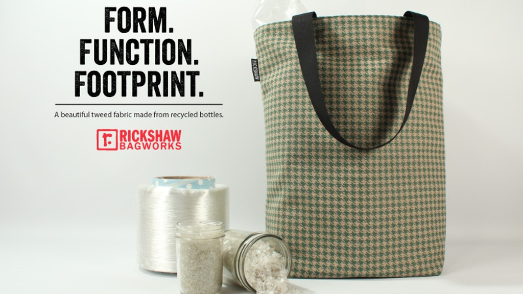 RICKSHAW tote bag & pouch made in USA from recycled bottles project video thumbnail