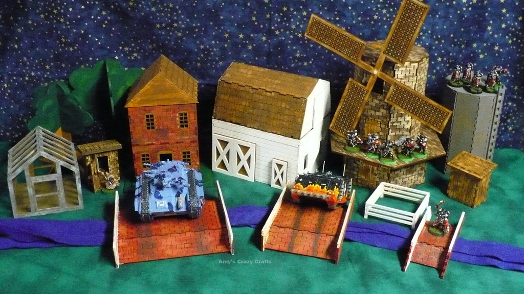 War Game Terrain for Table Top Games (farm set) project video thumbnail
