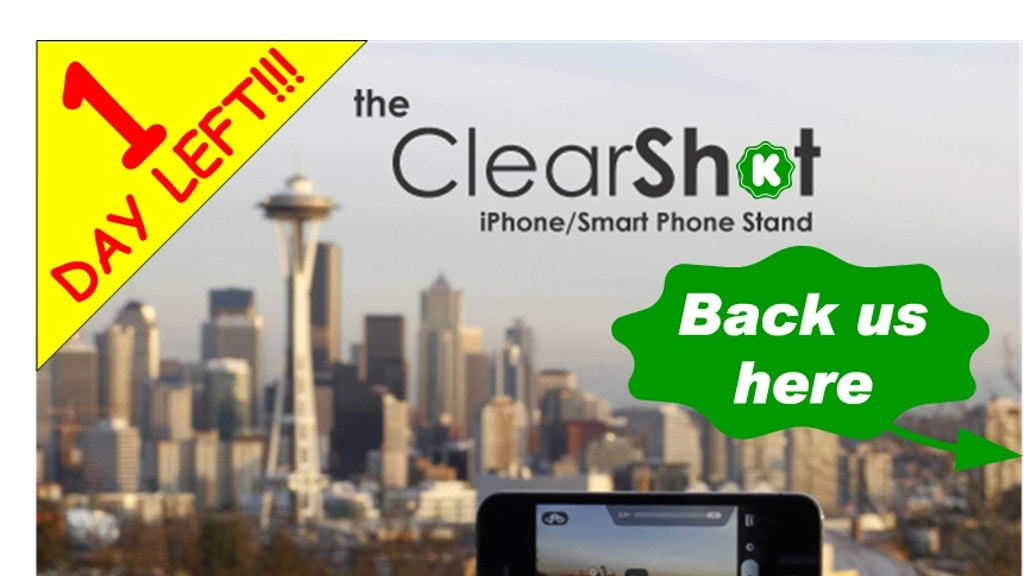 ClearShot-Credit Card Sized Tripod for iPhone Android & More project video thumbnail