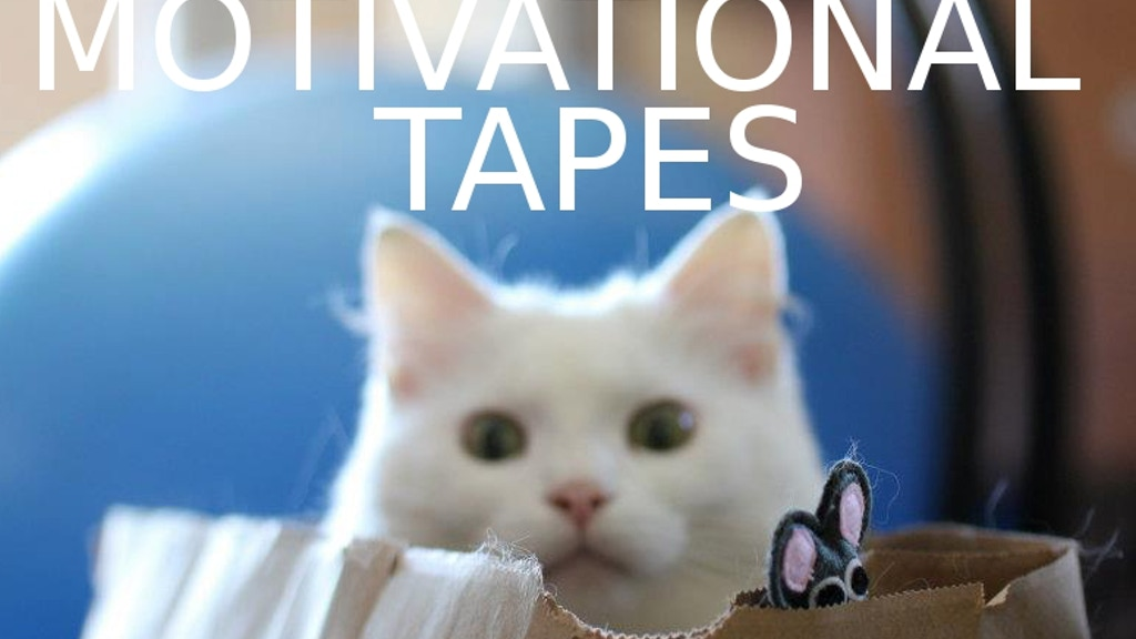 Cat Motivational Tapes. project video thumbnail