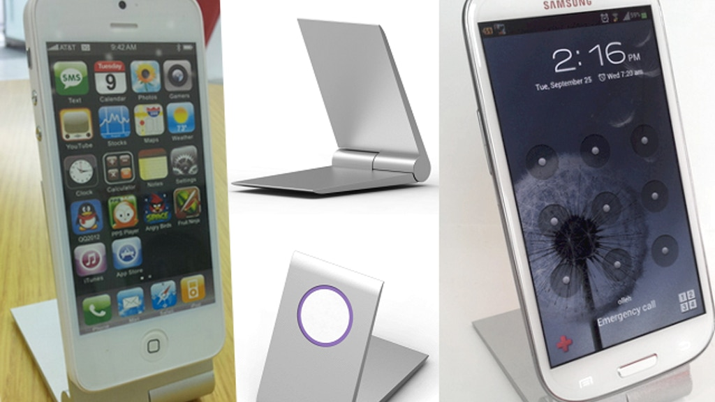 Zyroshell: Aluminum Phone Cradle for iPhone5 and Android! project video thumbnail