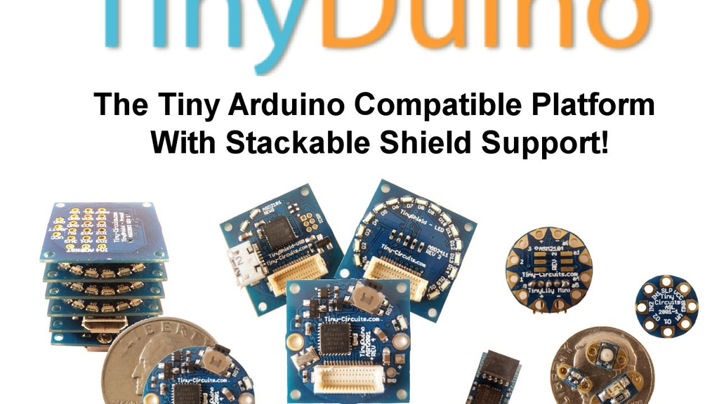 TinyDuino - The Tiny Arduino Compatible Platform w/ Shields! project video thumbnail