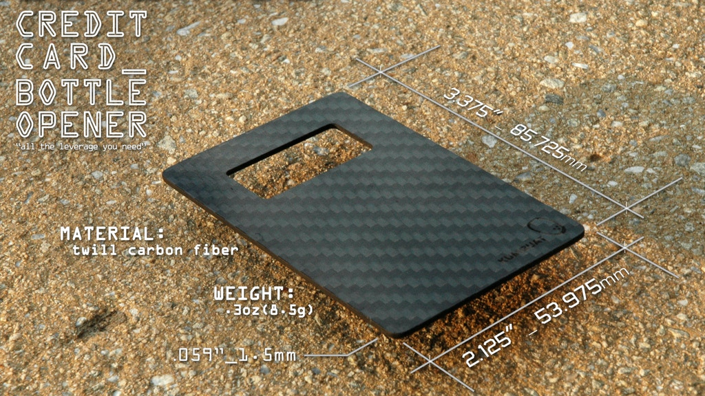 Leverage_ The Carbon Fiber Credit Card Sized Bottle Opener project video thumbnail
