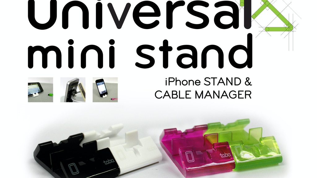 Universal Mini Stand: Your Unusual iPhone Stand. project video thumbnail