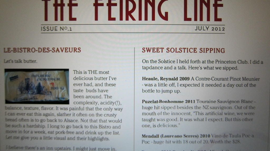 THE FEIRING LINE: THE REAL WINE NEWSLETTER project video thumbnail