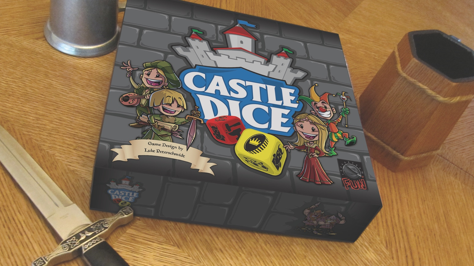 Roll tons of custom molded dice and build castles in this massive Euro-style game featuring light worker placement and dice drafting.