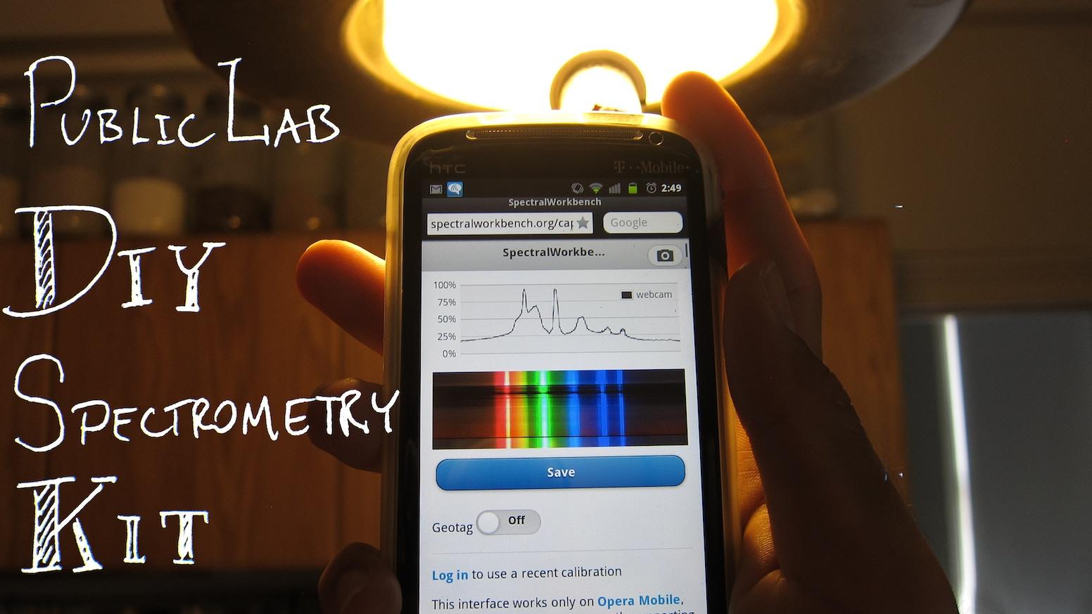Public Lab DIY Spectrometry Kit by Jeffrey Yoo Warren