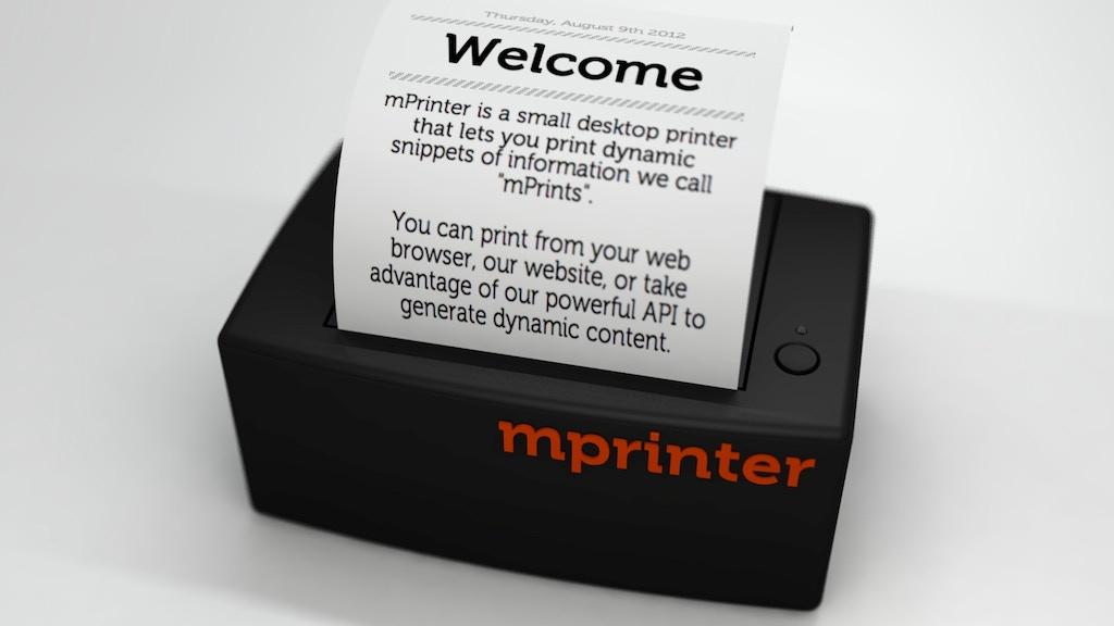 mPrinter - An analog printer for a digital world project video thumbnail
