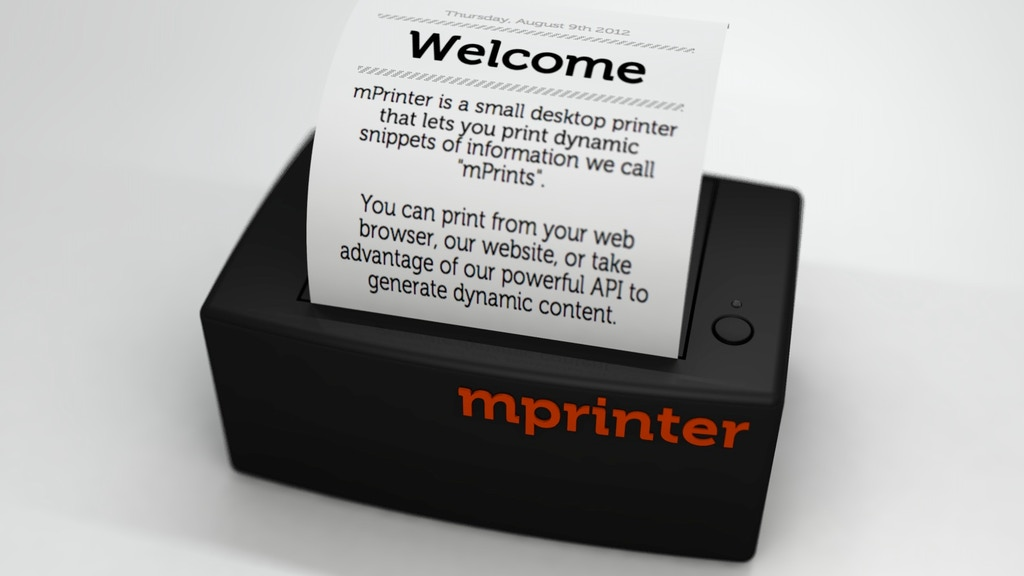 mPrinter - An analog printer for a digital world project video thumbnail