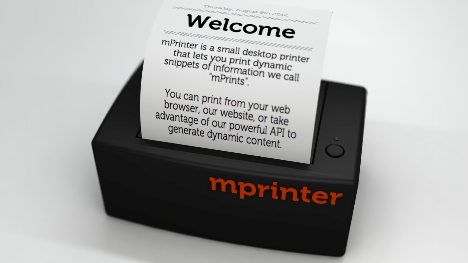 mPrinter - An analog printer for a digital world by Andy Muldowney