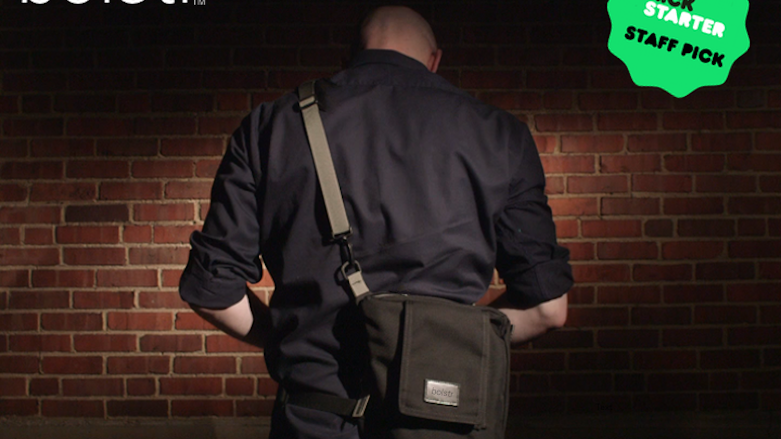 Need a few extra pockets? Bolstr is the perfect crossbody bag for guys and their smart phones, keys, wallets, sunglasses, and just a few more items. One of a kind and well reviewed by backers and customers.