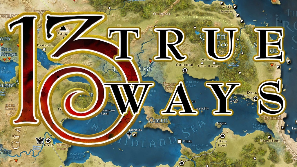 13th Age expansion book: 13 True Ways project video thumbnail