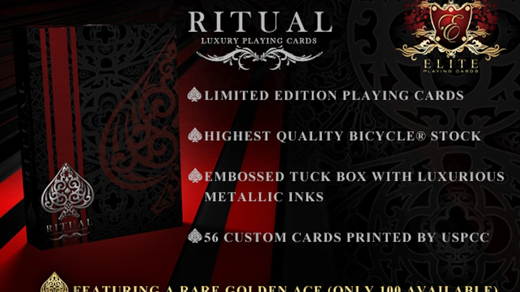 RITUAL Playing Cards Deck by Elite Playing Cards project video thumbnail