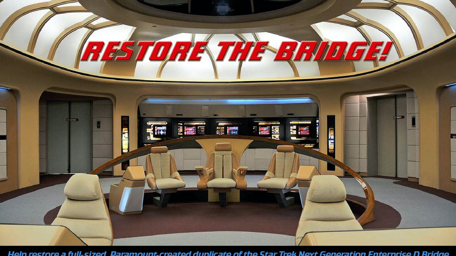 The restoration of a Paramount built STAR TREK Next Generation Enterprise D Bridge touring set for the Hollywood Science Fiction Museum.