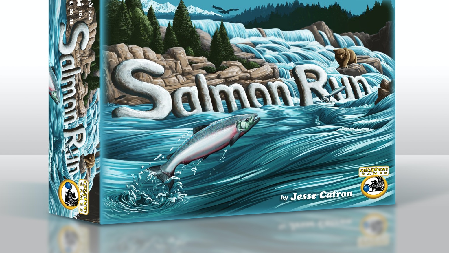 Enjoy a fast-paced racing game for everyone! Rapids, waterfalls, bears, & eagles all await the salmon on their quest upriver to spawn.