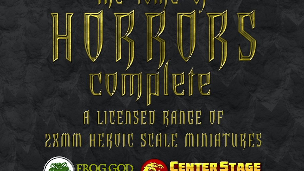 Tome of Horrors Complete - 28mm Heroic Scale Miniatures project video thumbnail
