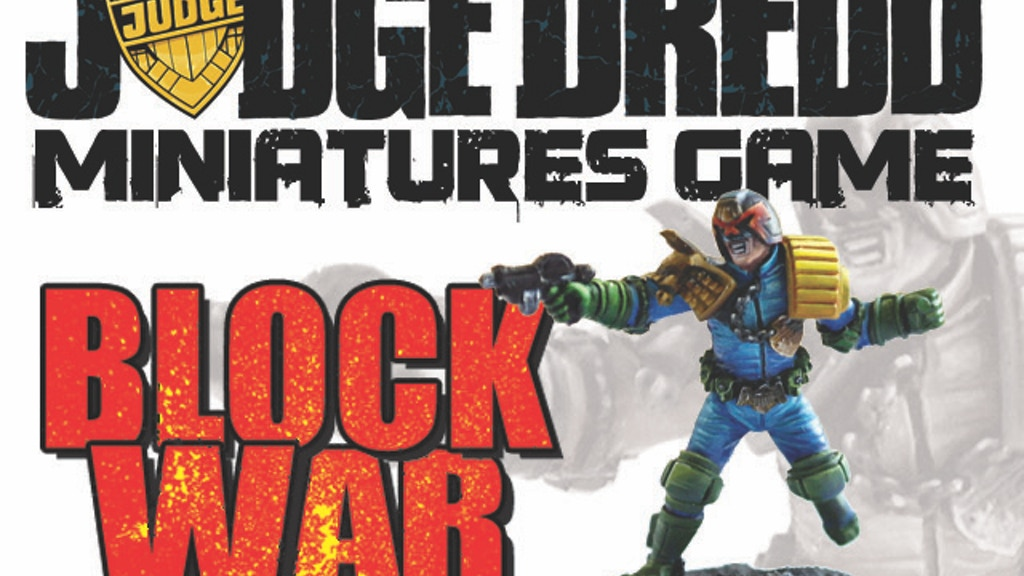 Judge Dredd Miniatures Game: Block War project video thumbnail