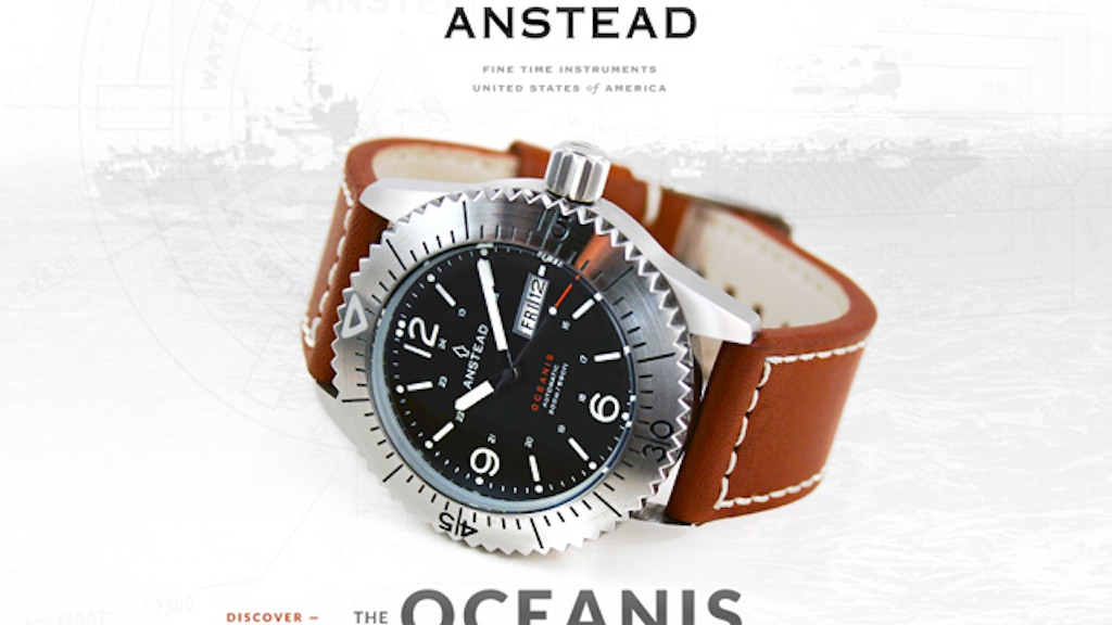 Anstead Watches: the OCEANIS project video thumbnail