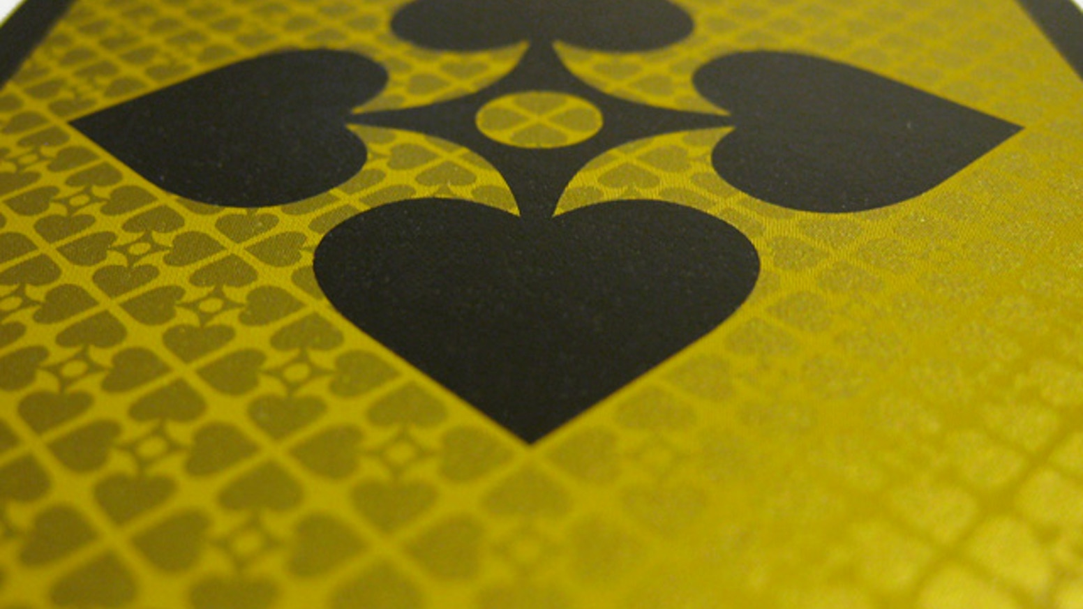 The only 100% rotationally symmetrical deck of playing cards ever designed.