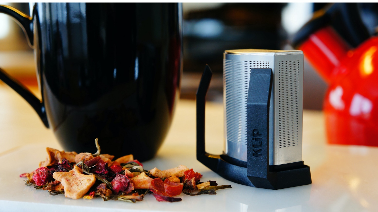 The easiest way to brew your favorite tea blends. Built-in saucer lets you steep and sip to taste. Delicious tea every time!!
