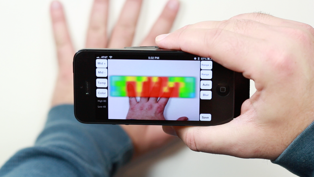 IR-Blue - Thermal Imaging Smartphone Accessory project video thumbnail