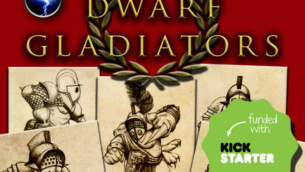 Dwarf Gladiators - finely sculpted 28mm resin miniatures project video thumbnail