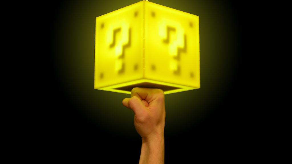 The question block lamp by 8 bit lit u2014 kickstarter