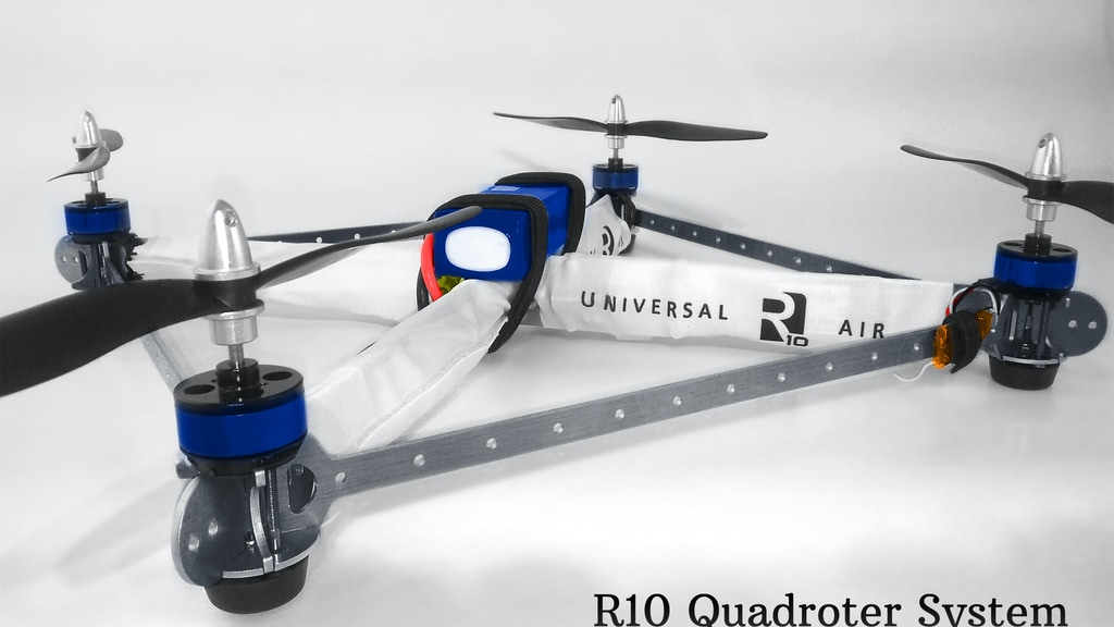 R10 Quadrotor- powerful, inexpensive, and customizable. project video thumbnail
