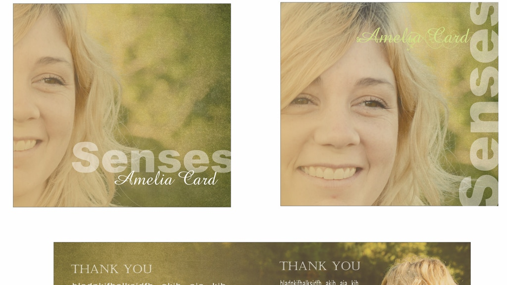 """Amelia Card's FIRST CD """"Senses"""" project video thumbnail"""