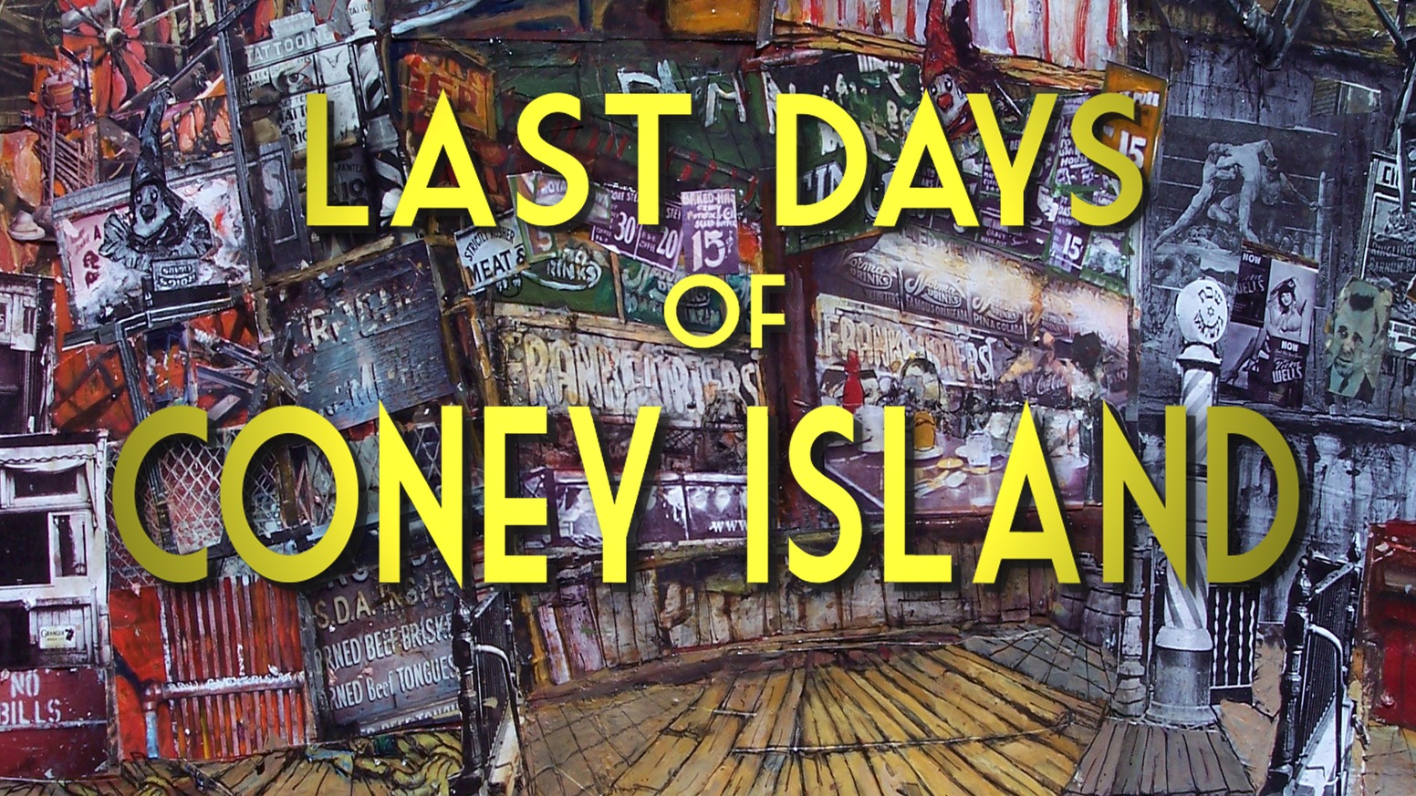 It's an animated cop, mafia, horror movie set in the 1960s in Coney Island, with political overtones both realistic and outrageous.