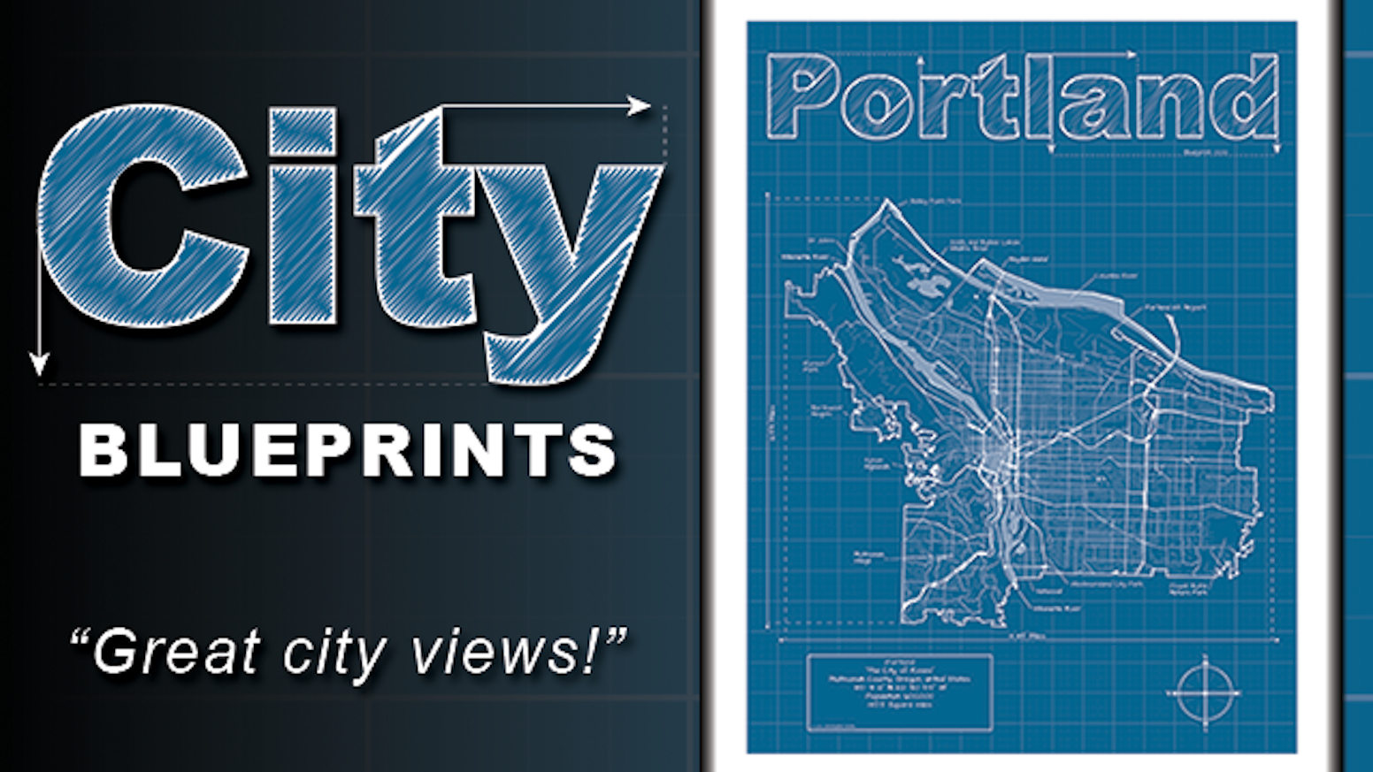 City blueprints artistic city map prints by christopher estes city blueprints artistic city map prints malvernweather