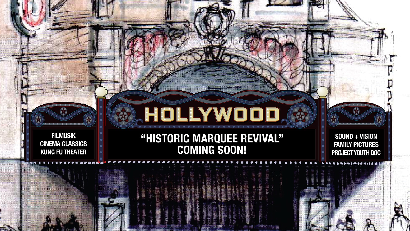 Hollywood Theatre Historic Marquee Revival