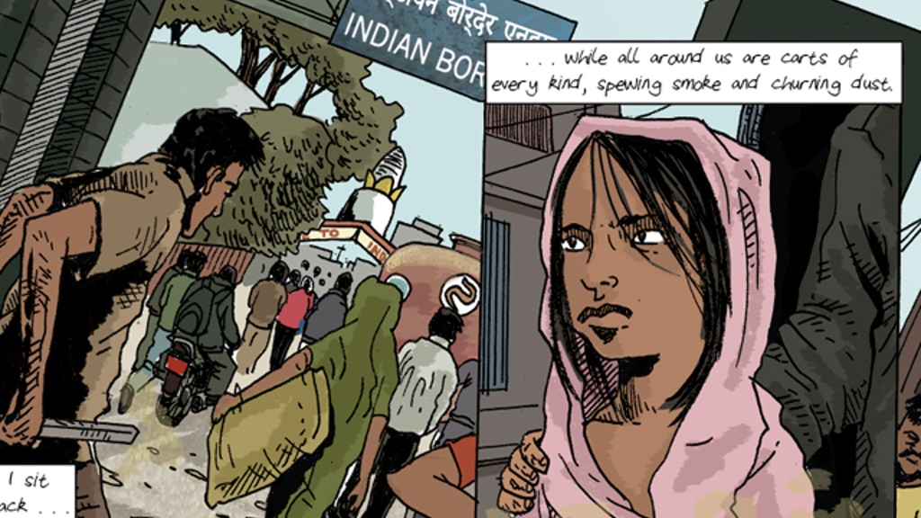 Graphic Journalism on Human Trafficking in Nepal project video thumbnail