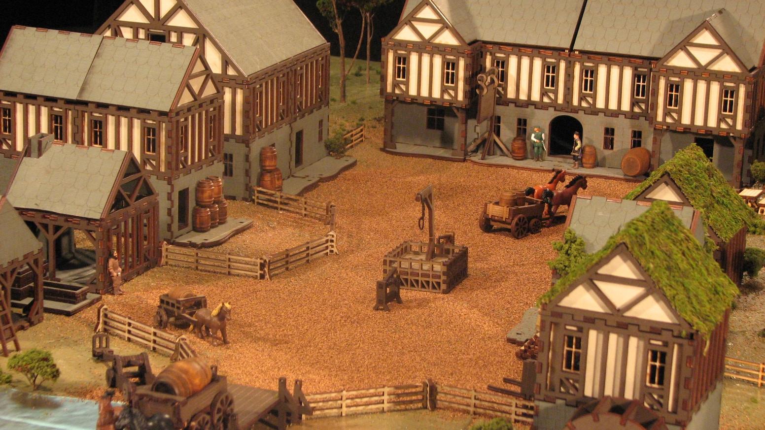 Medieval Village For 28mm Gamers By Renee Launer Kickstarter