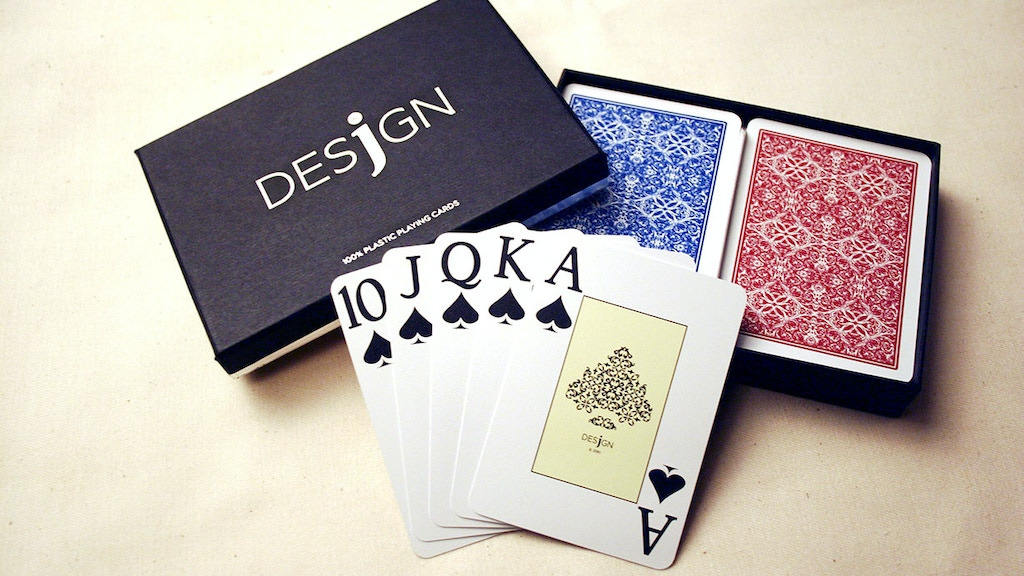 Project image for Desjgn Playing Cards: 100% plastic playing cards