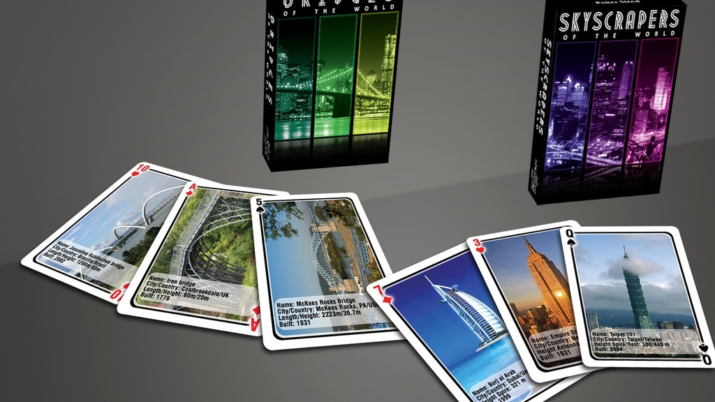 Project image for Structures Of The World playing cards Skyscrapers & Bridges