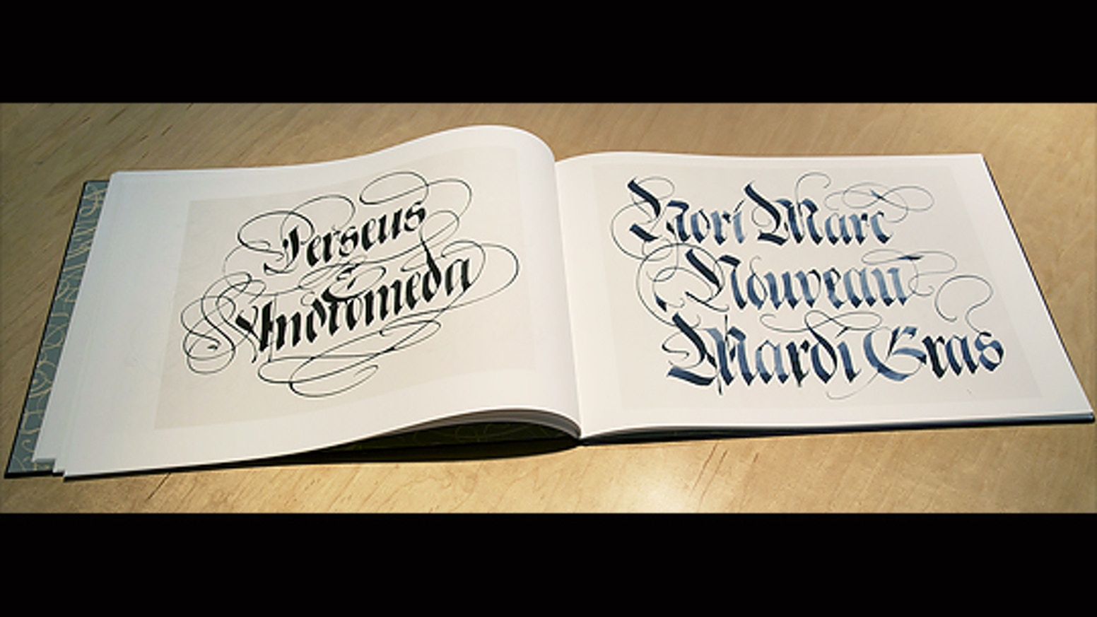 An Edition Of Handmade Books Showing The Pen Lettering Late Graphic Designer Calligrapher And Artist Raphael Boguslav