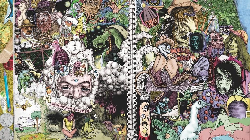 Project image for Trippy 'Serpents' Notebook Poster (36X24) offset line