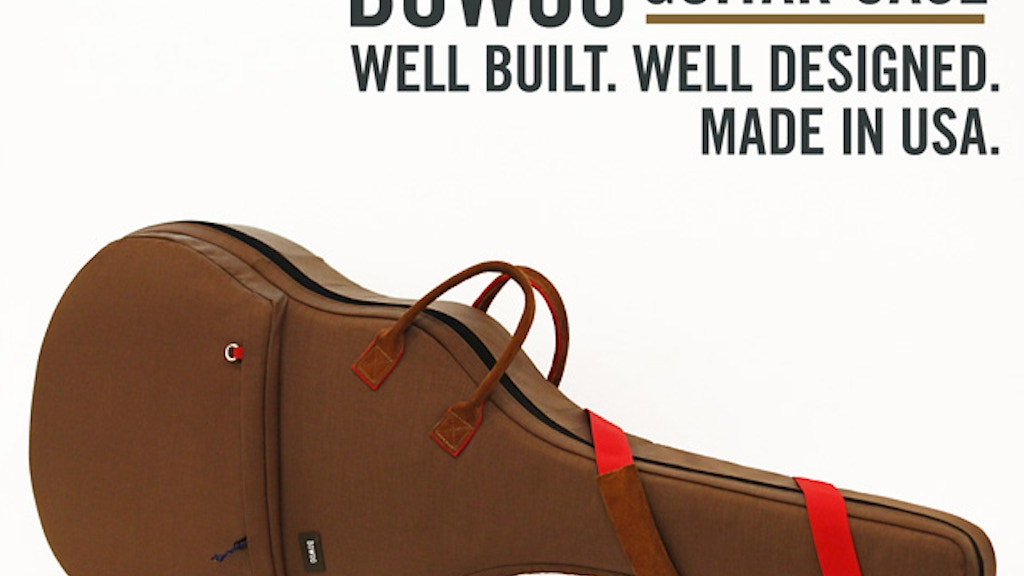 Bowoo Guitar Case: Well Designed. Well Built. USA Made. project video thumbnail