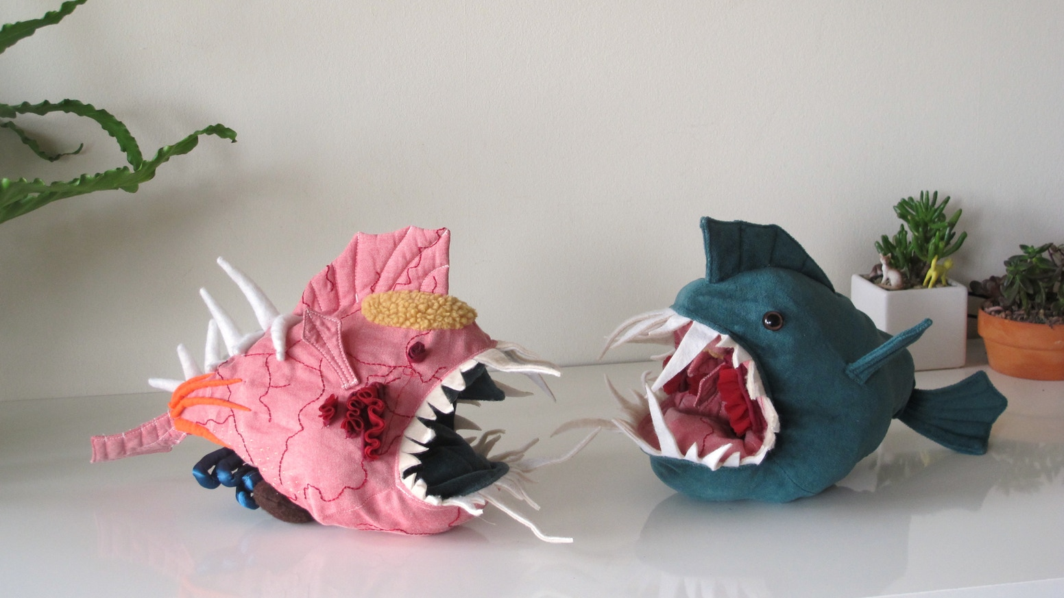 Morris, an interactive stuffed animal that encourages you to turn it inside out and explore its innards.