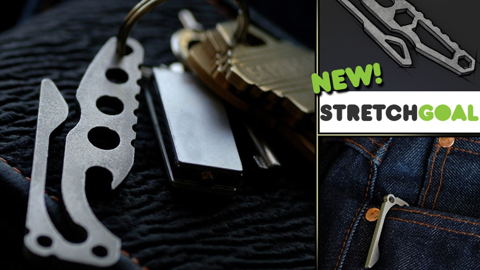 The Pickpocket is a combined bottle opener/pocketclip that allows you to hang your keys in a pocket or from a beltloop.