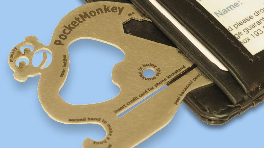 Pocket Monkey: The Wallet Utility Tool project video thumbnail