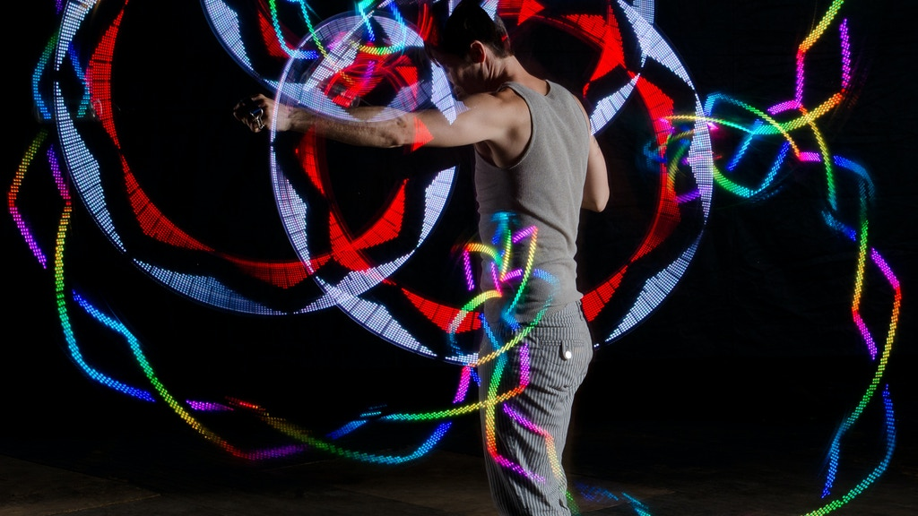SpinFX: Persistence of Vision Poi and Phoenix LED Hoop project video thumbnail